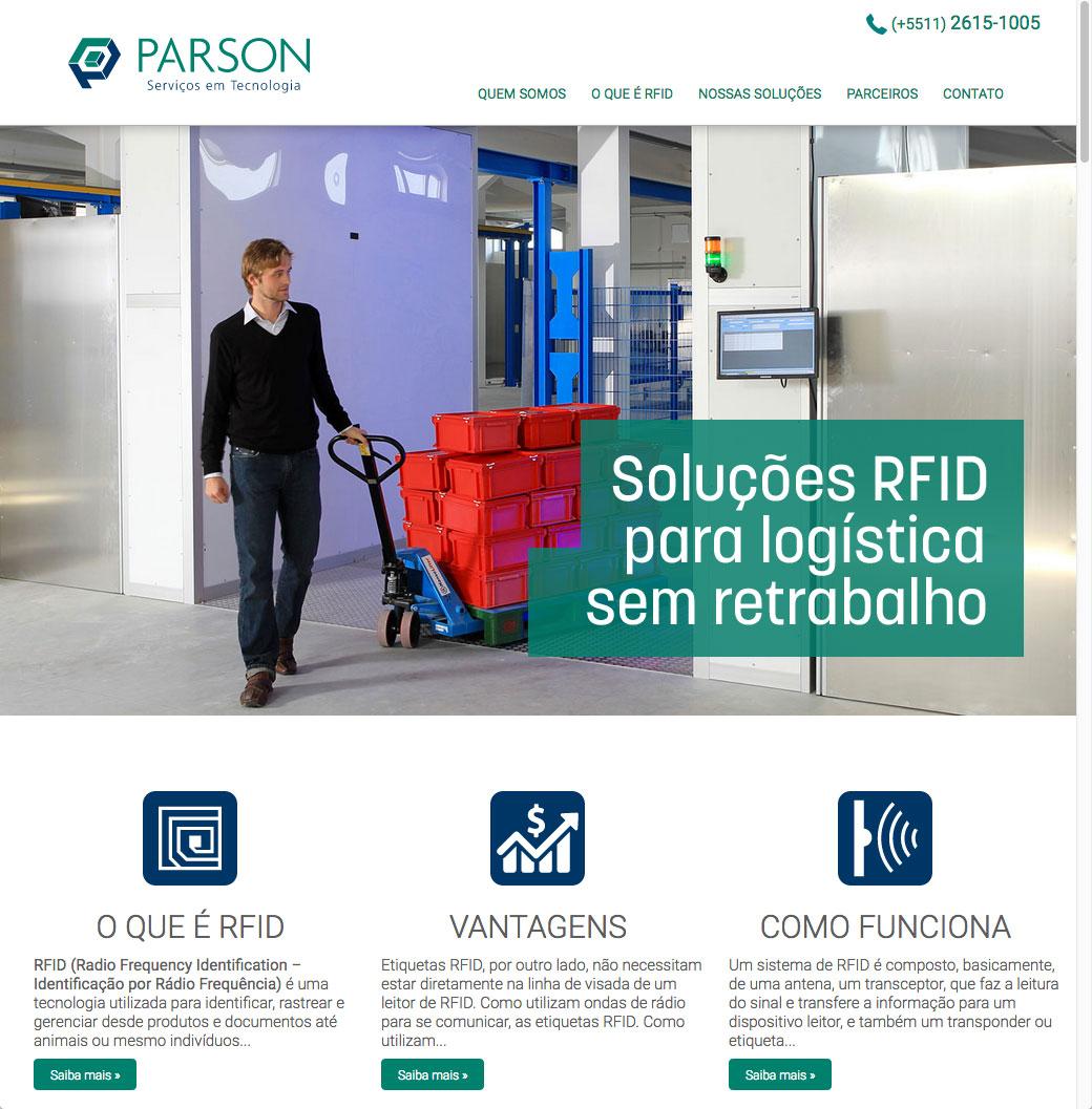Site da Parson Tecnologia